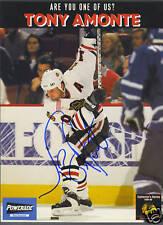 Tony Amonte signed Blackhawks Collector's Series photo