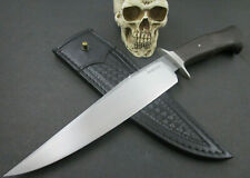 Mozolic Knives Hand Forged W2 Steel Gorgeous 1300 Year old Bog Oak Fighter Bowie