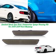 For 2010-2014 Ford Mustang Smoked Black Lens Rear Sidemarker Lamps Housing Kit