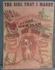 Vintage Sheet Music The Girl That I Marry Rogers & Hammerstein Annie Get Your G