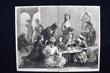 La vita nell'Harem in Turchia Incisione del 1876