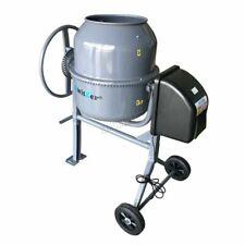 Switzer Electric Cement Mixer Portable Mortar Plaster Concrete Drum 550w 120l