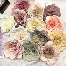 Artificial Peony Silk Flower Heads Wedding Bridesmaid  Party Home Decoration
