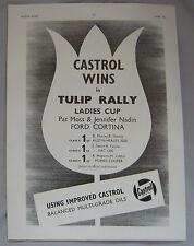 1963 Castrol Wins in Tulip Rally Original advert