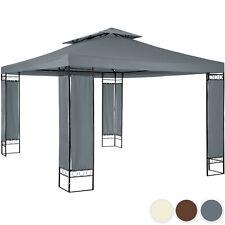 Tonnelle de jardin autoportée pergola tente barnum 3,9 x 2,9 m cadre en métal