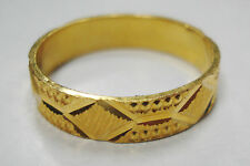 Beautiful solid 22K Real Shiny Solid yellow Gold wedding band Sz 10 unisex LQQK