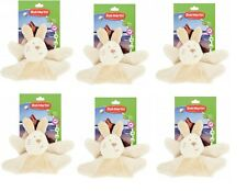 BOB MARTIN PLUSH SQUEAKY RABBIT (PACK OF 6) JOBLOT WHOLESALE DOG PET TOY