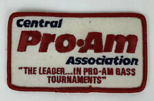 Central Pro-Am Association Bass Fishing Tournaments Sew or Iron on Patch