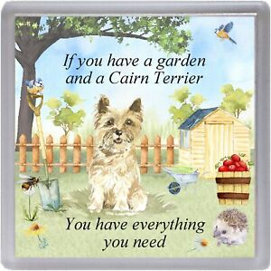 """Cairn Terrier Dog Coaster """"If you have a garden ...."""" Novelty Gift by Starprint"""