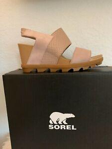 "NIB WOMEN SOREL SANDALS/FOOTWEAR ""JOANIE"" MAUVE/TAUPE SIZE 9/40 SLINGBACK"