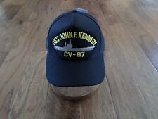 USS JOHN F KENNEDY CV- 67 NAVY SHIP HAT OFFICIAL U.S MILITARY BALL CAP U.S. MADE