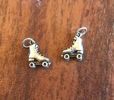 ROLLER DERBY SPORT 2 ROLLER SKATE THREE DIMENSIONAL PEWTER CHARMS ALL NEW.