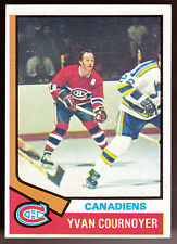 MONTREAL CANADIANS 1974-75 TOPPS YVAN COURNOYER EX+NM CONDITION FREE SHIPPING