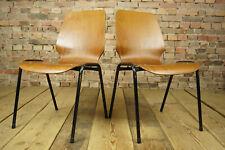 60er Vintage Esszimmer Stuhl Industriedesign Küchenstuhl Stapelstuhl Nussbaum