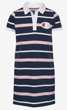 NWT Girls Champion Rugby Dress - Navy/White/Pink - Size M
