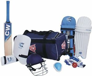 CW Sports Academy Cricket Kit Blue Size 6 With Bat Ideal For 12-13 Year Child