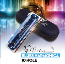 Blues Harmonica Key Easttop T008K 10 Hole Portable Professional For Beginner