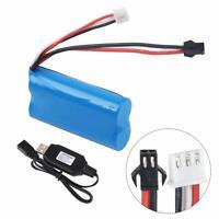 7,4V 1500mAh Battery 15C SM Plug mit USB Ladegerät für RC Car Boat