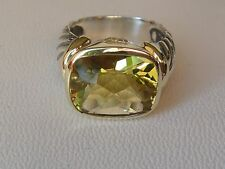 $1100 DAVID YURMAN 14/K GOLD,SS LEMON CITRINE LARGE NOBLESSE RING