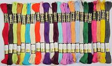 24 Surtidos Anchor hilo de algodón trenzado Madejas, * envío Gratis para los compradores del Reino Unido