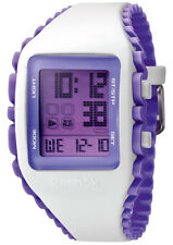 Reebok Unisex Workout Z1G Digital White / Purple Silicone Watch RFWZ1G9PWIUUB