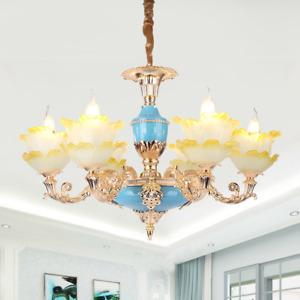 New European chandelier zinc alloy crystal living room lamp ceiling lamp