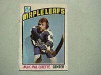 1976/77 O-PEE-CHEE NHL HOCKEY CARD #294 JACK VALIQUETTE ROOKIE EX/NM SHARP!! OPC