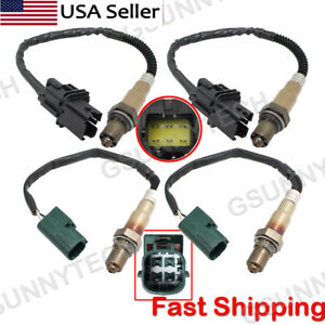 4pcs Air Fuel Ratio Oxygen Sensor Up + Downstream for 04-2006 Nissan Titan 5.6L