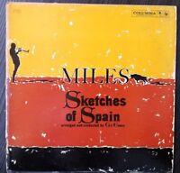 Miles Davis Sketches of Spain Gil Evans Saeta jazz 1960 LP 6-eye CL 1480 VG VG
