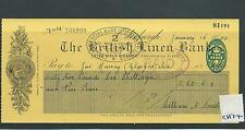 wbc. - CHEQUE - USED - CH34 -1950's - BRITISH LINEN BANK, EDINBURGH company