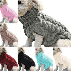 Winter Knitted Puppy Dog Jumper Sweater Pet Clothes For Small Dogs Cat Warm Coat