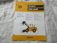 JCB 411B HT wheel loader brochure