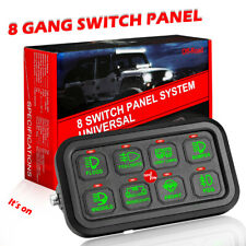 8-Gang Switch Panel LED Light Bar Relay Interior Control System Car Boat 12V 24V