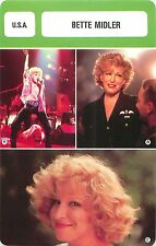 Bette Midler  USA  ACTRICE ACTRESS Chanteuse Humoriste FICHE CINEMA
