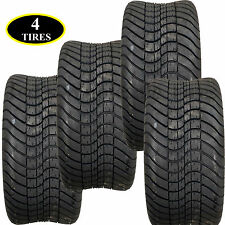 """FOUR 14"""" inch low profile non lifted Golf Cart TIRES 19.5"""" tall x 8.5"""" wide"""