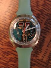 "Restored 1974 BULOVA Accutron 214 Spaceview Mens Backset Watch ""UFO"" Case MODEL!"