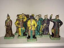 Very Rare Antique Kangxi Style Zodiac Chinese Porcelain Figures