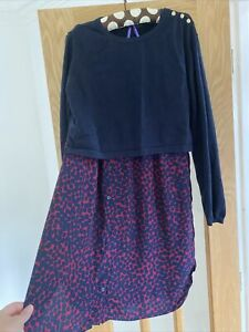 seraphine maternity dress Size 16. Breast Feeding Friendly. Navy And Maroon