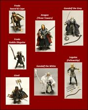 """Lord of the Rings Action Figures Vintage 2001-2003 Marvel 5""""-7"""""""