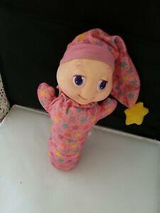 Vintage Playskool Glo Worm Pink Stars Toy 1988