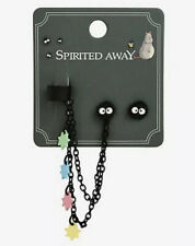 Studio Ghibli Spirited Away Soot Sprite Cuff Earrings Set