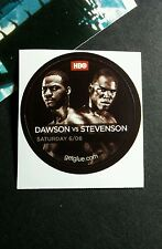 "DAWSON VERSUS STEVENSON HBO FIGHT MATCH TV SMALL 1.5"" GETGLUE GET GLUE STICKER"