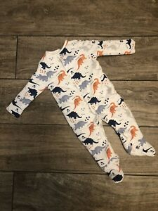 Tu Baby Sleepsuit Tog 2.5 Alt. To Sleeping Bag White Dinosaurs Size 6-9 Months