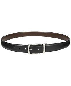 Club Room Men's Reversible Stretch Belt Black Brown S 30-32 New