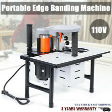 New listing Wood Edge Banding Machine 5 m/min Continuously Variable 765W 10-60mm Usa New