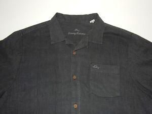 Tommy Bahama Men's Silk Short Sleeve Button Front Shirt Size XL