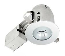 Globe Electric 9202701 4 inch Recessed Lighting Kit, Bathroom, Chrome Finish wit