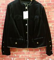 Who What Wear ~ Women's Size 4XL Velvet Black Jacket  Long Sleeve Buttoned NWT !