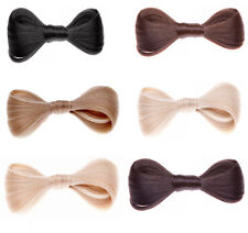 Ladies Girls Clip in Hair Bow Realistic Hair Piece Natural Look Hair Accessory