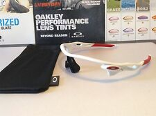 Oakley Radarlock Path AF Polished White w Team Red Icons - Brand New SKU 9206-10